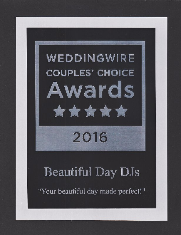 Wedding Wire, 2016 Couple's Choice Award