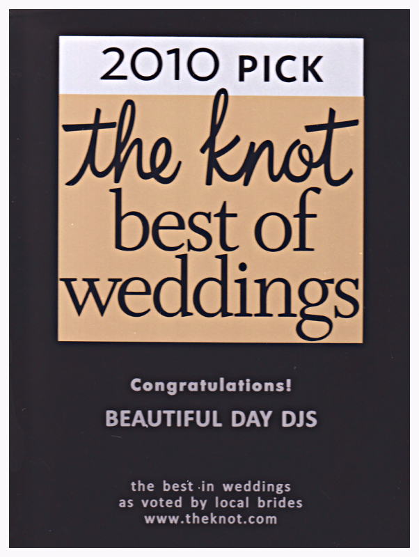 2010 Pick, The Knot, Best of Weddings Award