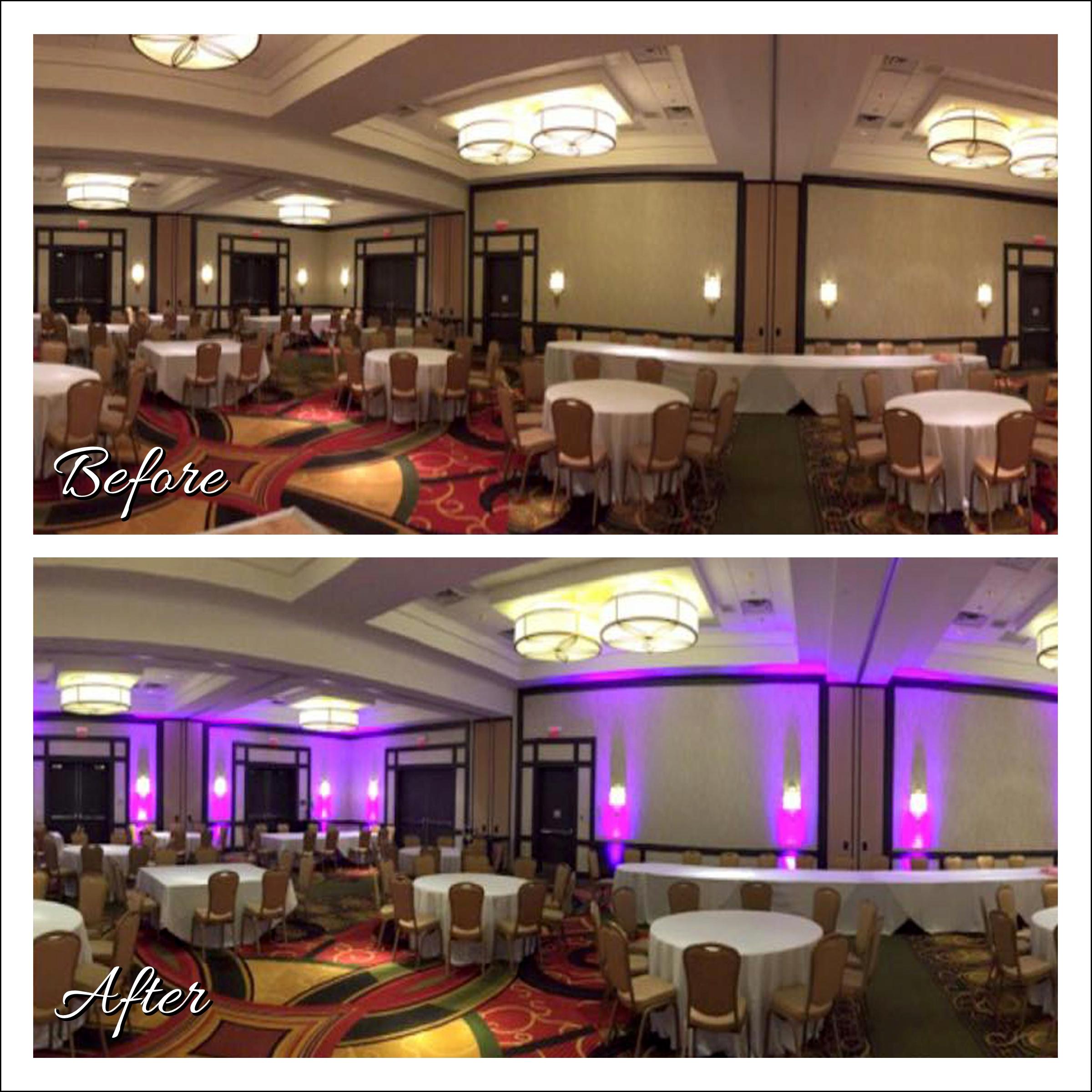 Uplighting Image, Wedding DJ, Minneapolis Marriott, Southwest, Minnesota