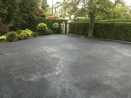 driveway after installing