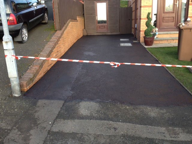 after driveway installation