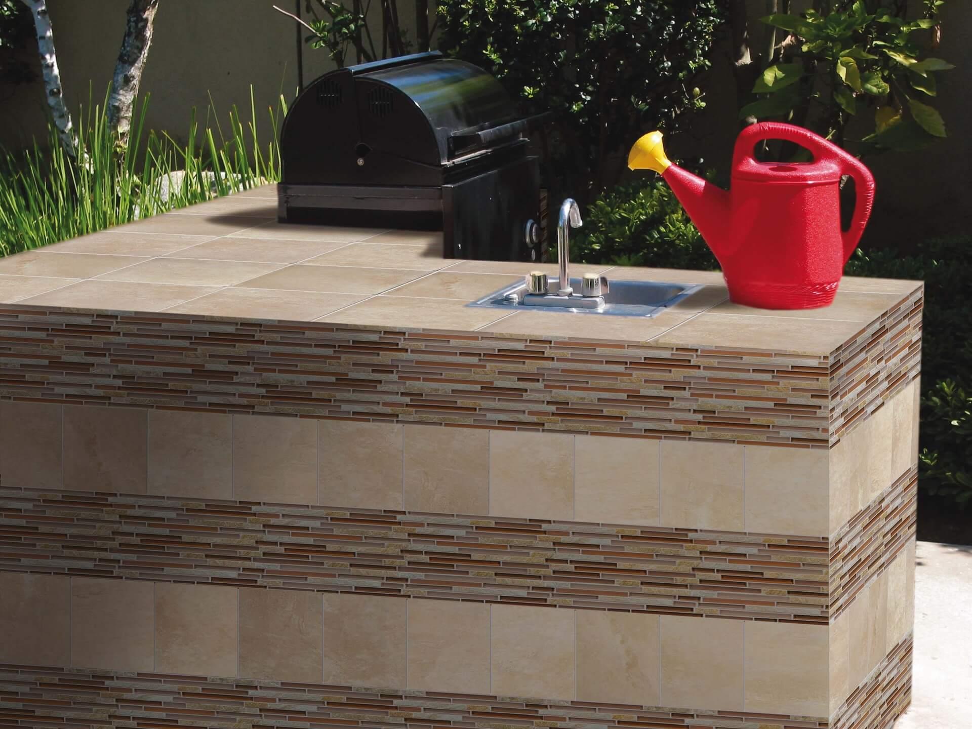 Fran-Char alluring sunset blend wall tiles design