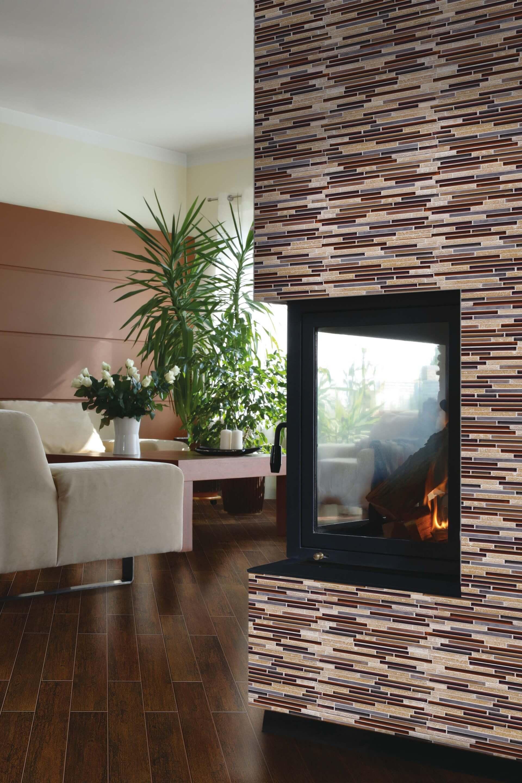 Fran-Char Ice rocks amethyst stone blend mosaic kitchen tiles