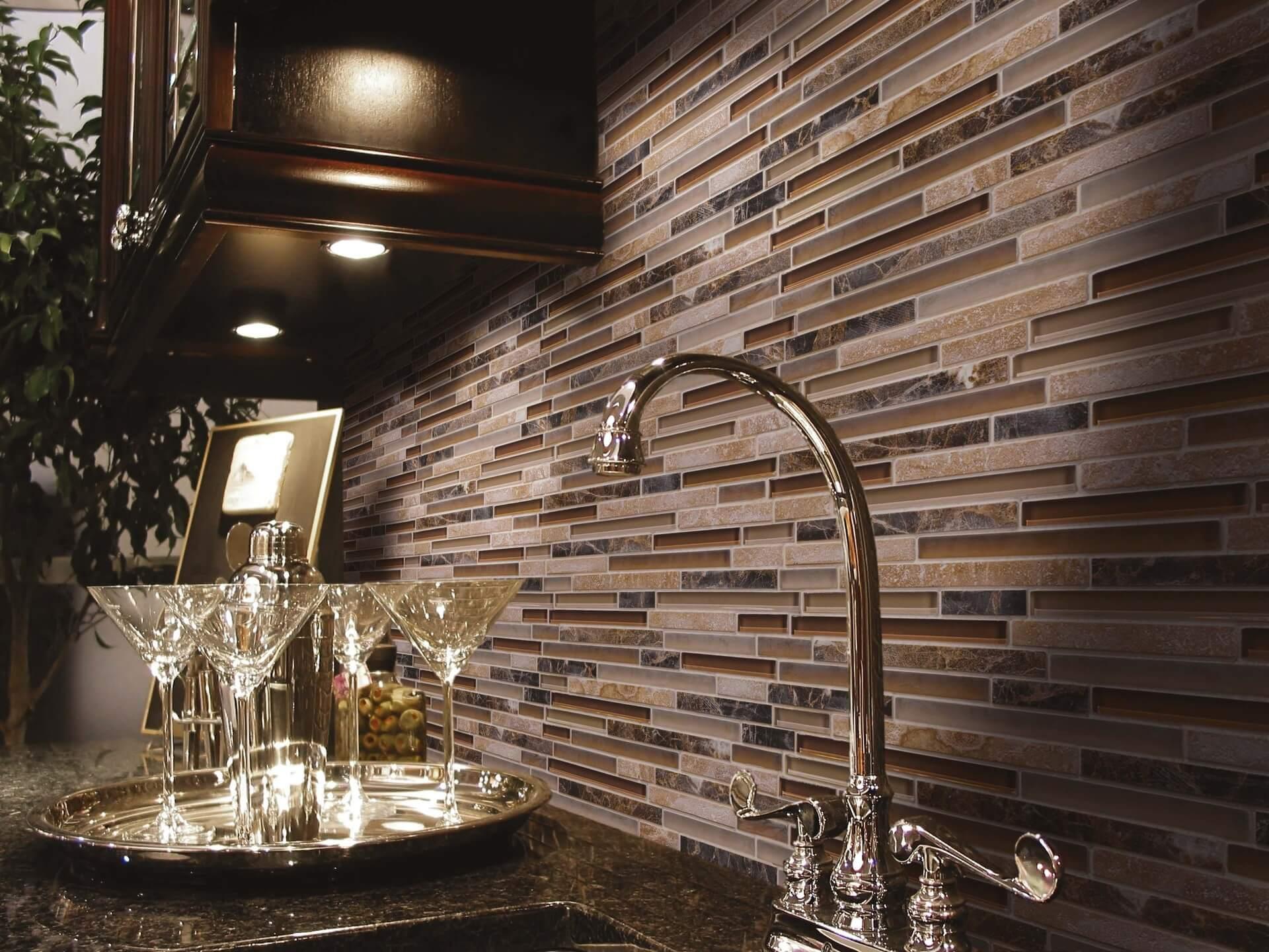 ice rock espresso stone mosaic tiles 12x12