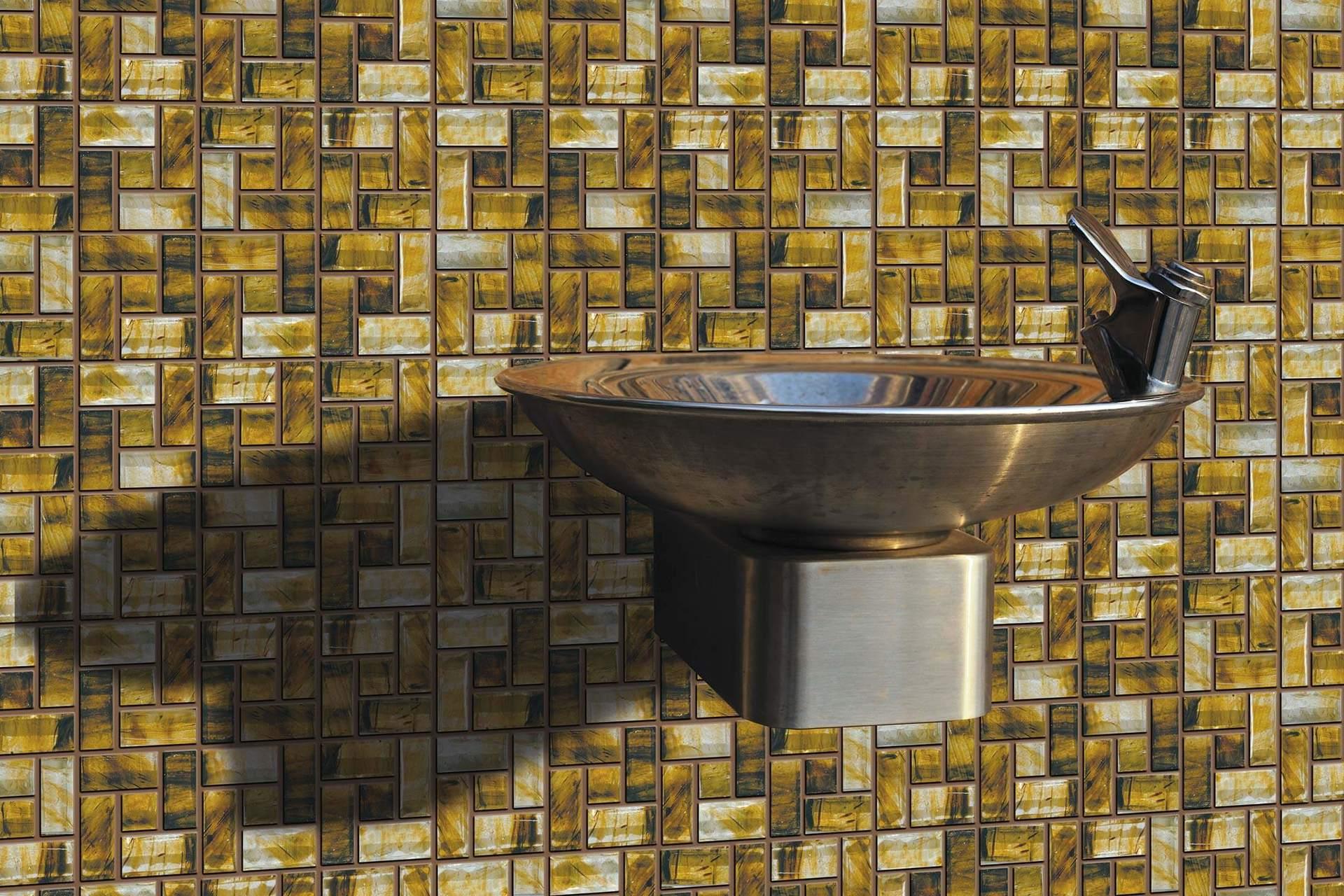 Pinwheel mosaic tiles by Fran-Char