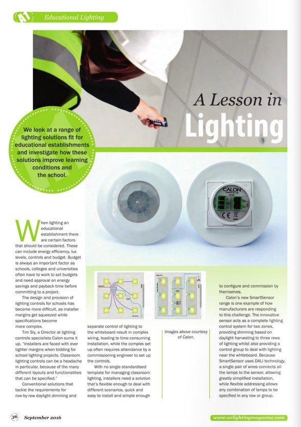 A1 Lighting Magazine Advert 2016