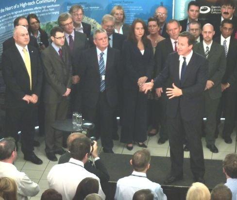 Cameron visits Calon 2011
