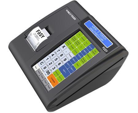 un registratore di cassa con scritto Wind 3 touch