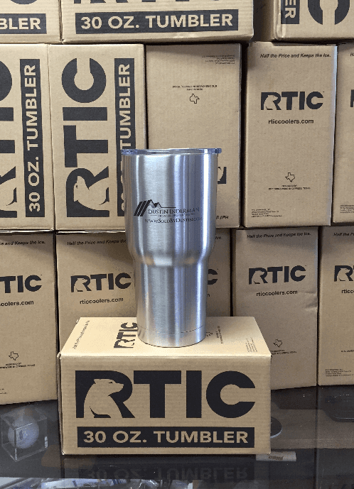RTIC company logo laser etch