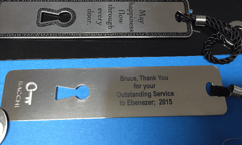 stainless steel bookmark gift promo library read