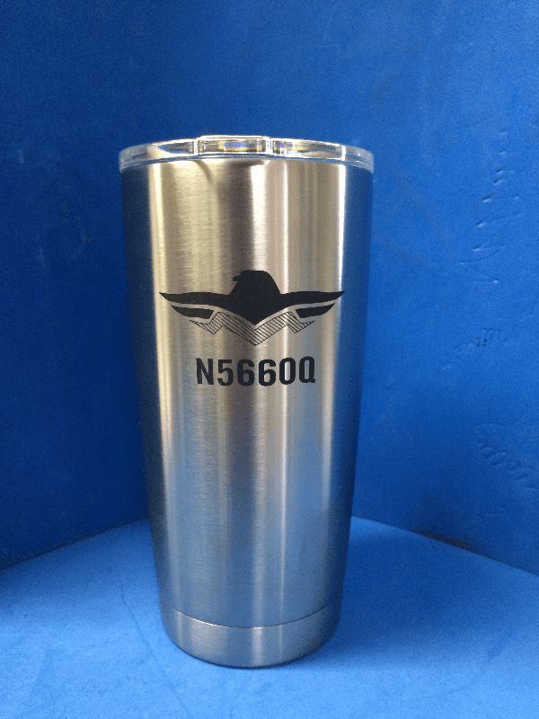 Yeti 20oz Mooney aviation company logo laser