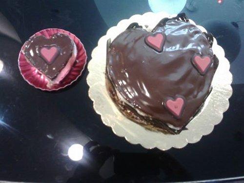 torte al cioccolato a forma di cuore