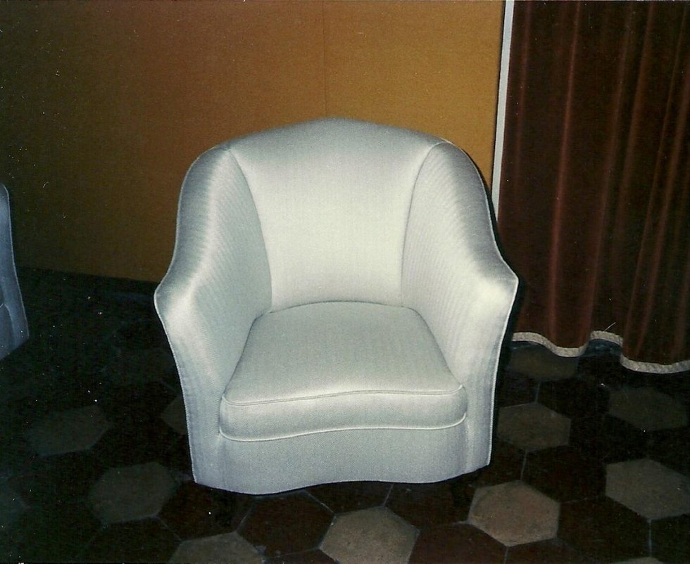 A made to measure crafted armchair