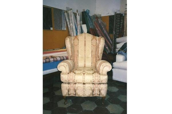 Chair with padded seat and back