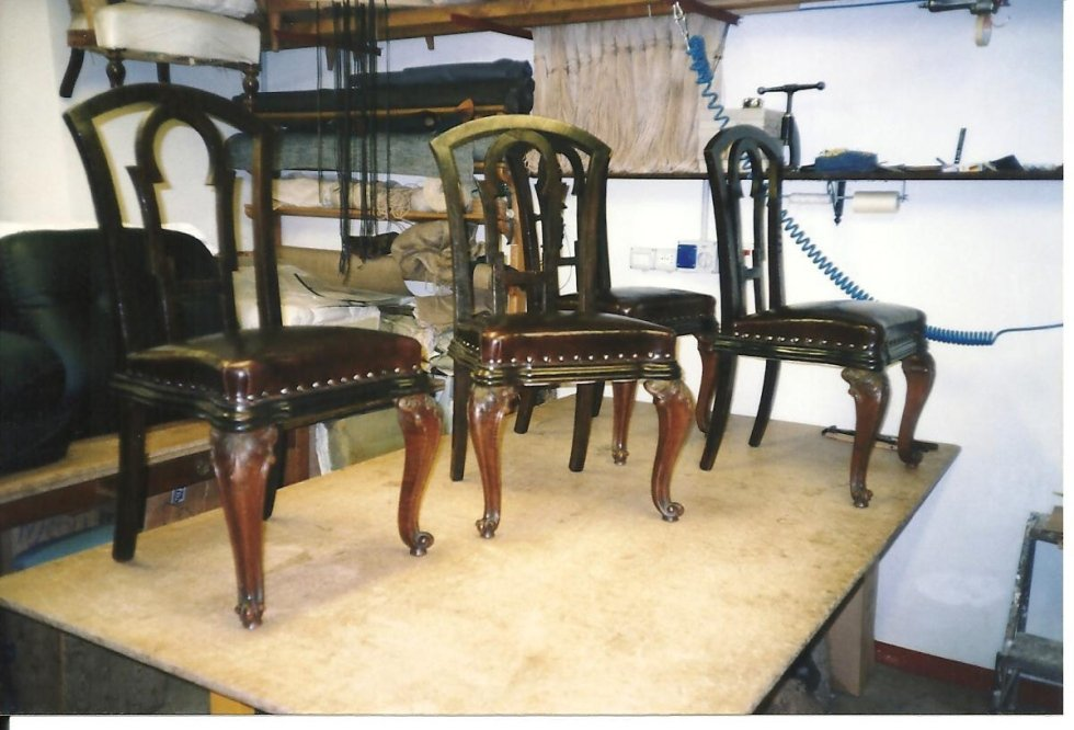 remaking of leather chairs