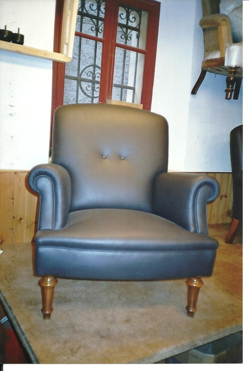 900 leather covered armchair from our samples