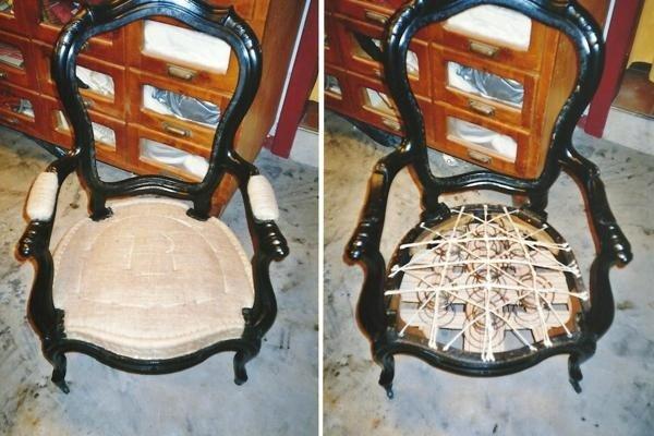 Dettaglio seduta sedia