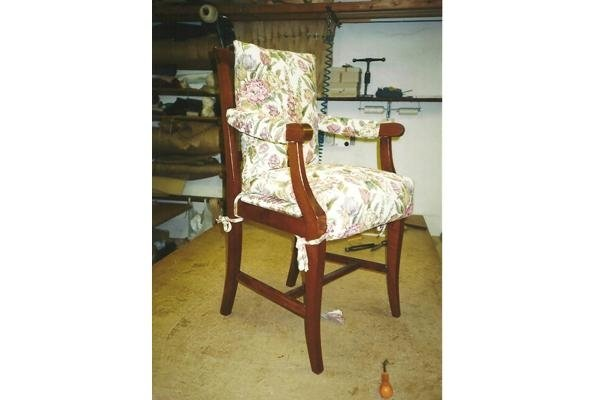 Chair with padded seat