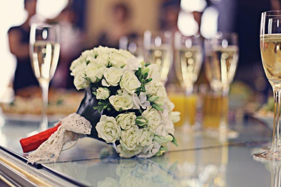 mazzo di fiori per il matrimonio