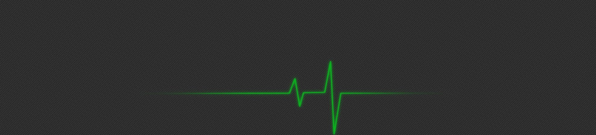 A pulse on a heart monitor