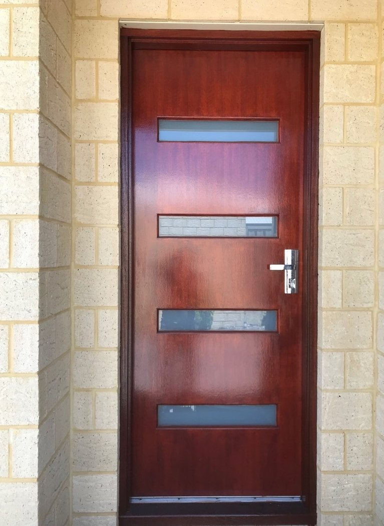 PROMESH Wood Look Hinged Security Door