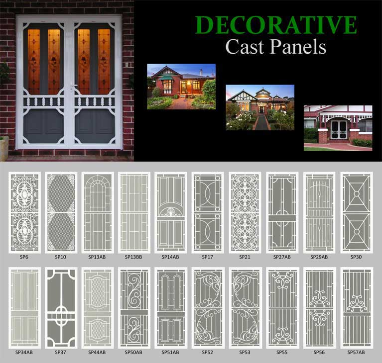 DECORATIVE Cast Panels - available styles