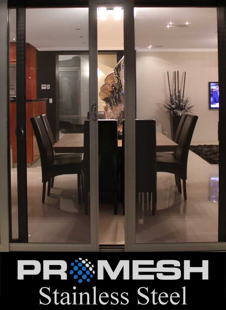PROMESH Stainless Steel Sliding Double Security Doors