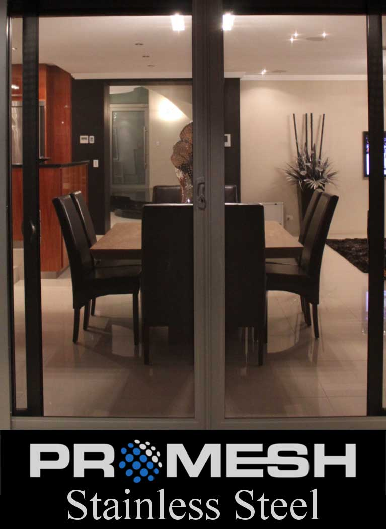 PROMESH Stainless Steel Stacking Security Doors