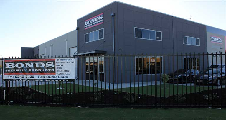 Bonds Security Products main showroom & factory