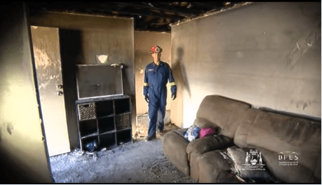 Lounge Room After House Fire