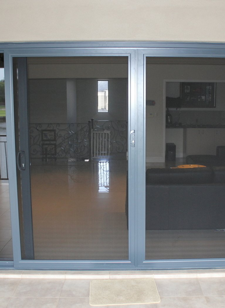 Sliding stainless steel mesh security doors perth ph 08 for Sliding security doors