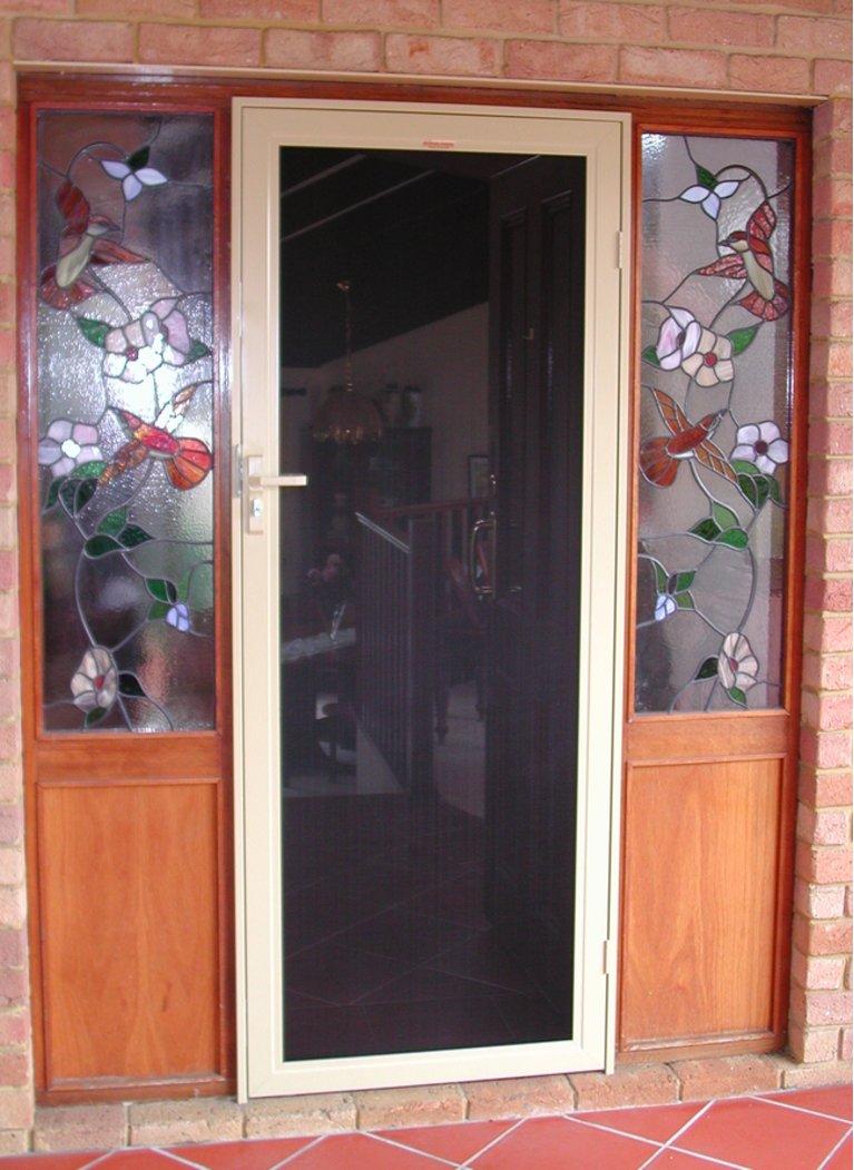 Stainless Steels Mesh Hinged Security Doors In Perth