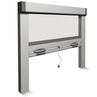 Modello sali e scendi verticale ideale per finestre con guide laterali antivento