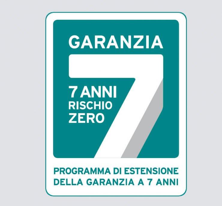 logo garanzia 7 anni rischio zero