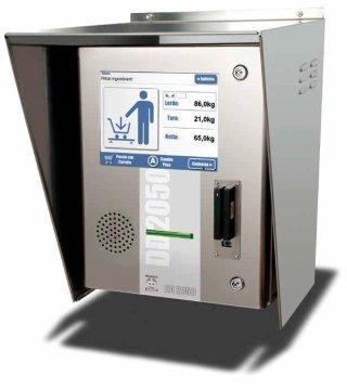 Electronic weighing terminal