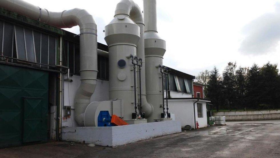 Impianto di Deodorizzazzione Q=50000 m3h