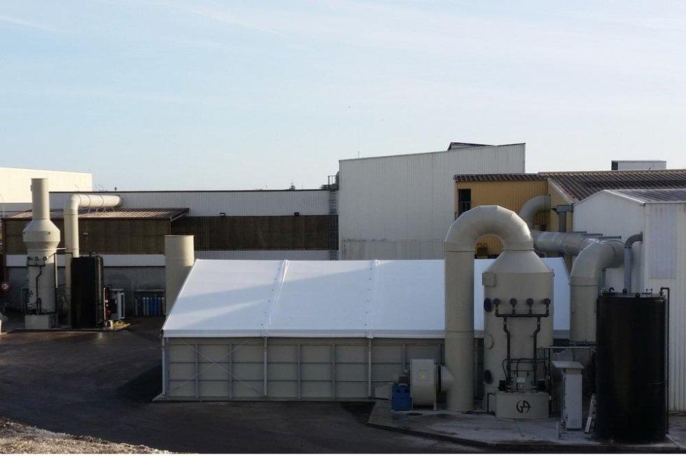 Biofiltro in PP con copertura in PVC Q=68000 m3h
