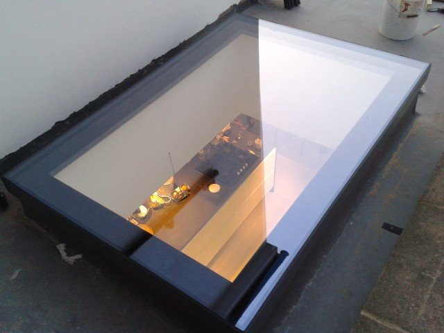 rooflight with room below