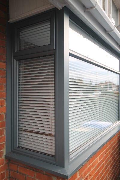 Grey uPVC double glazing