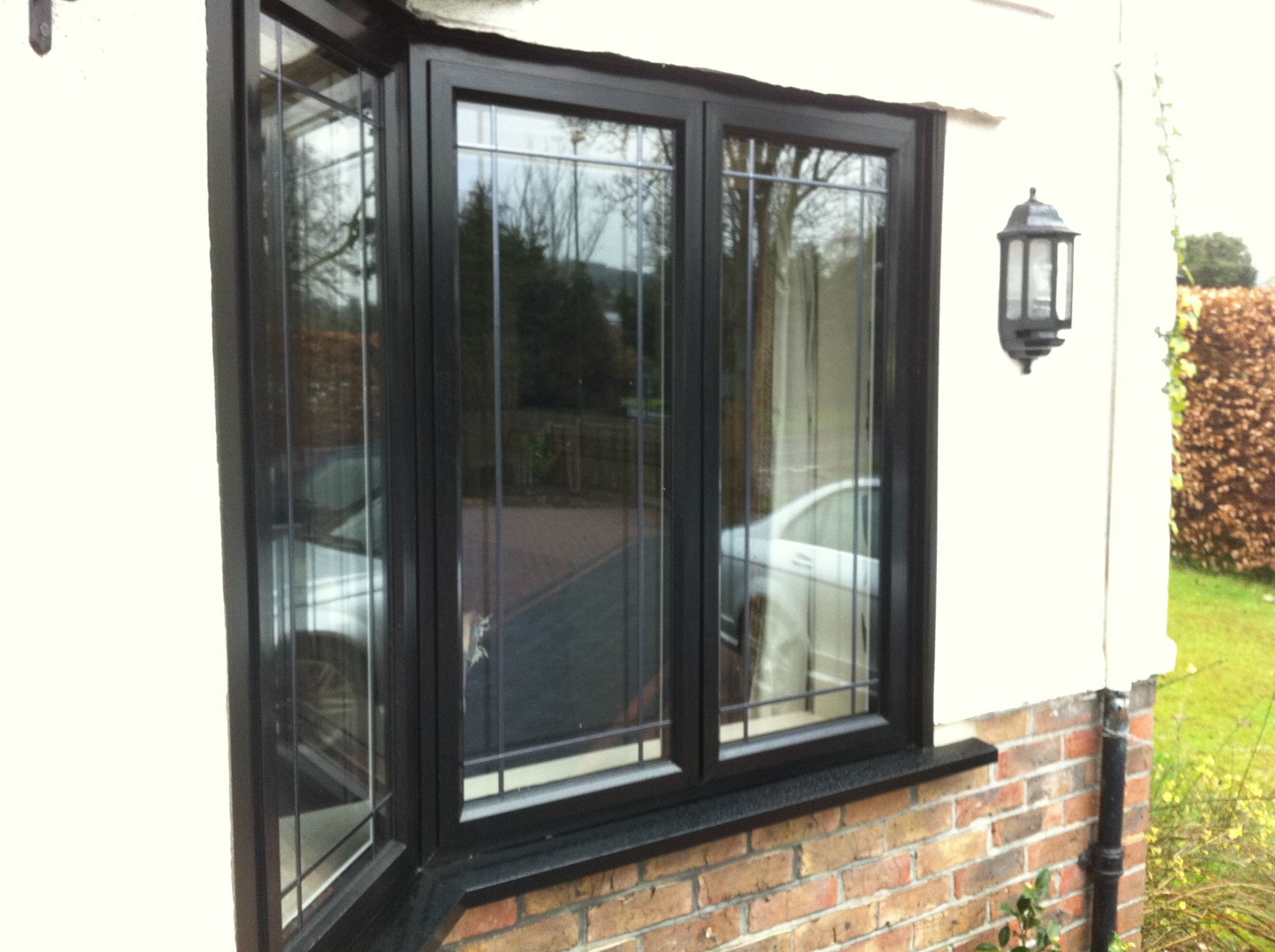 Black aluminium window