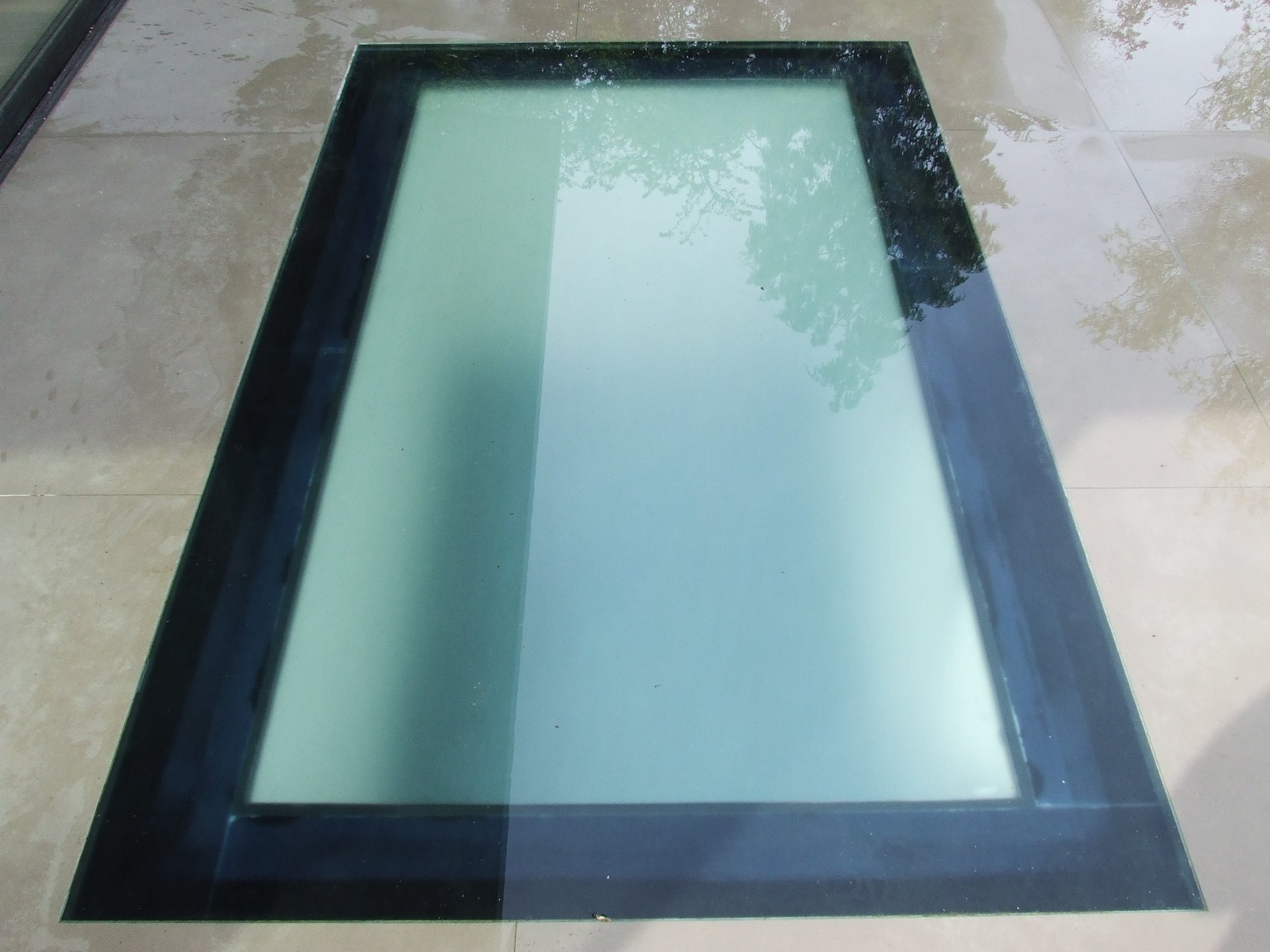 black framed rooflight
