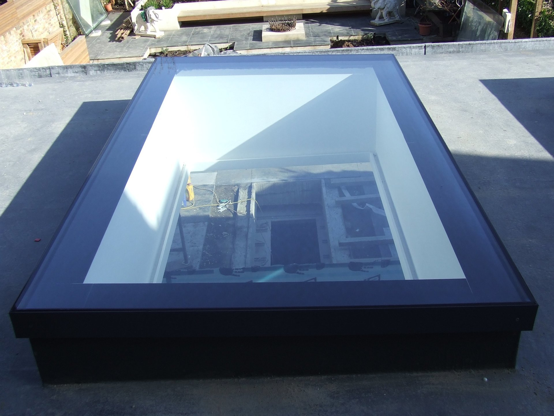 rooflight with black frame