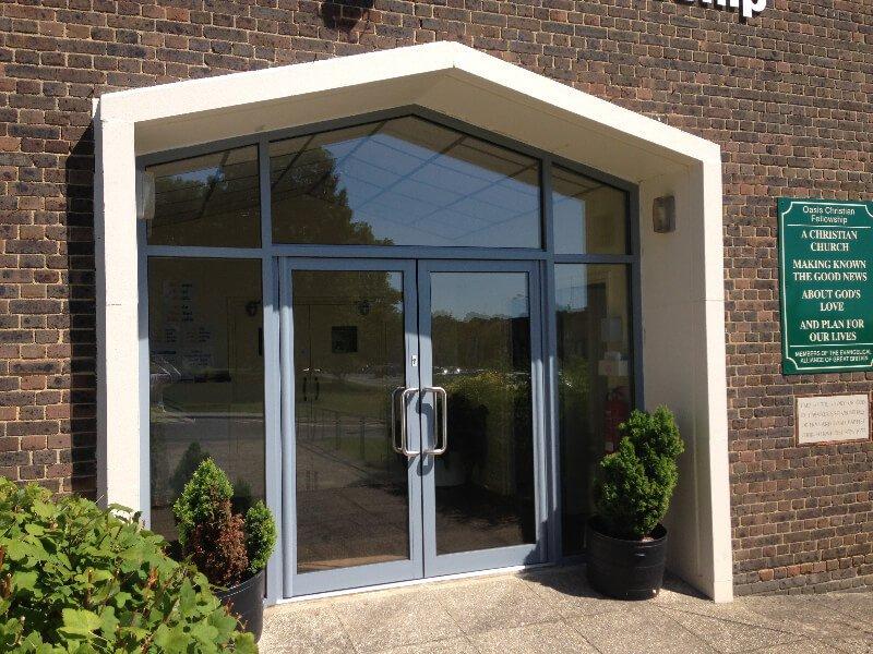 Aluminium double doors