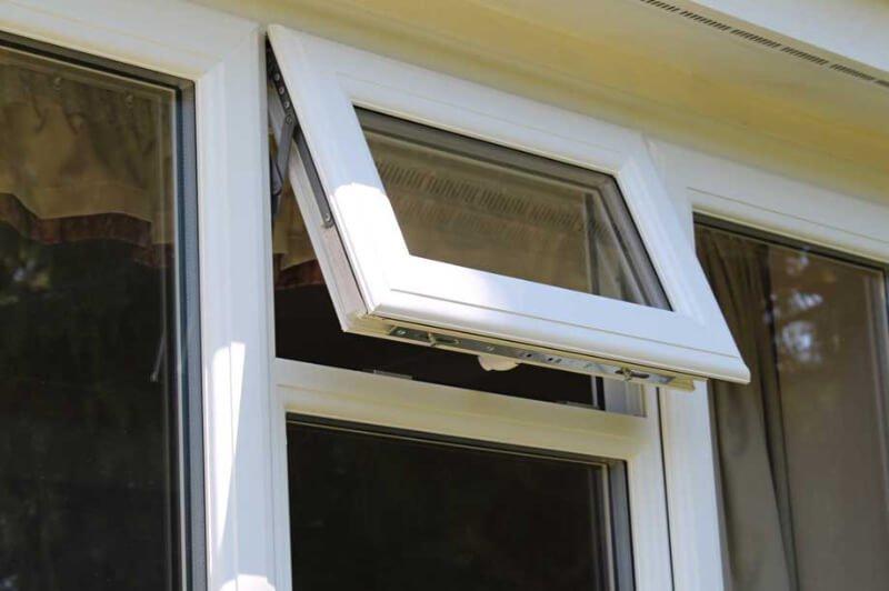Modern uPVC white window