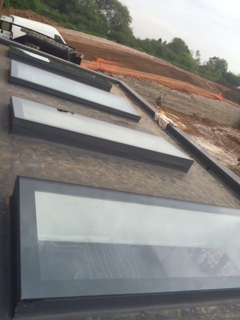 row of rooflights