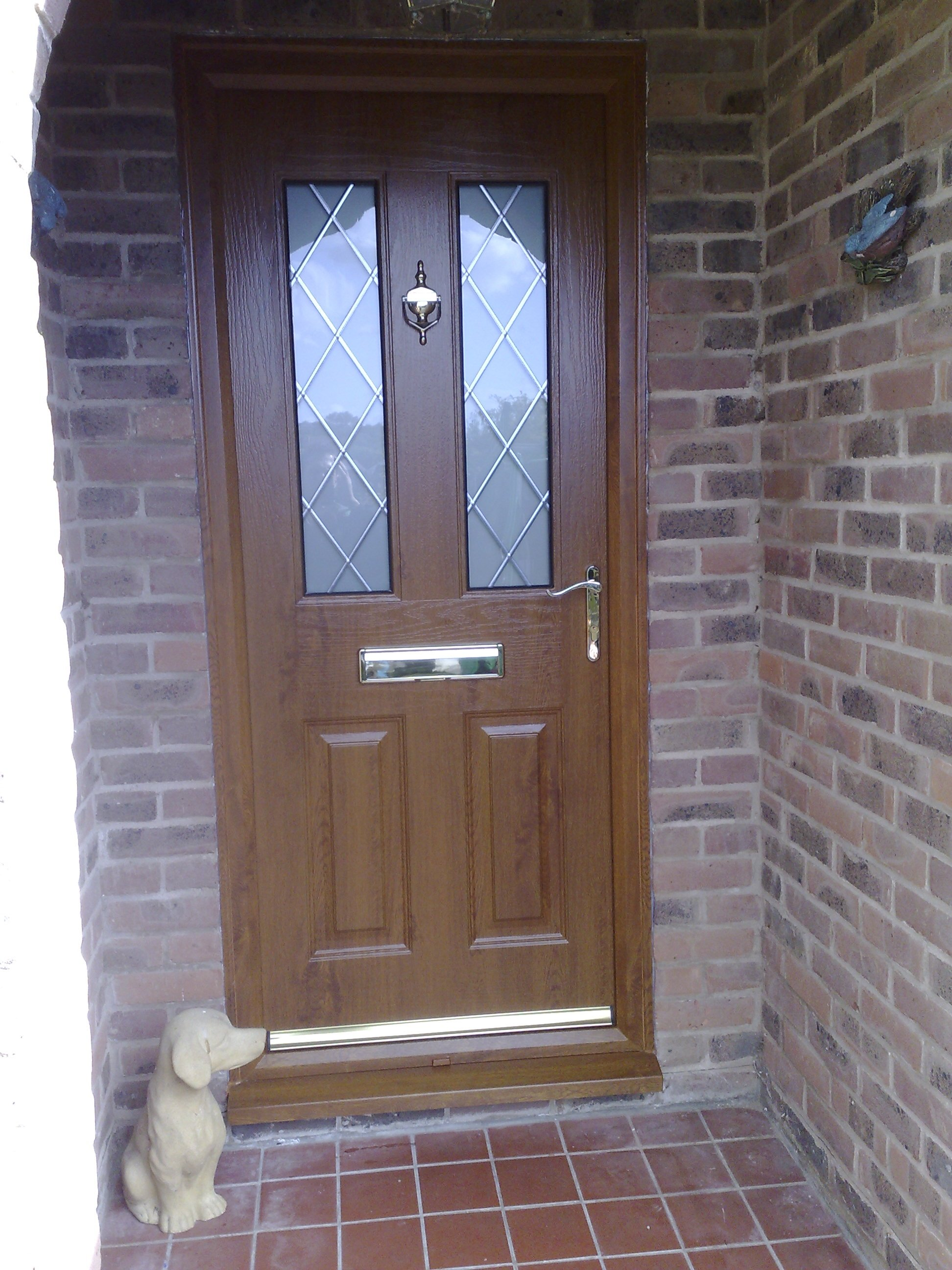 Oak comp door with leads