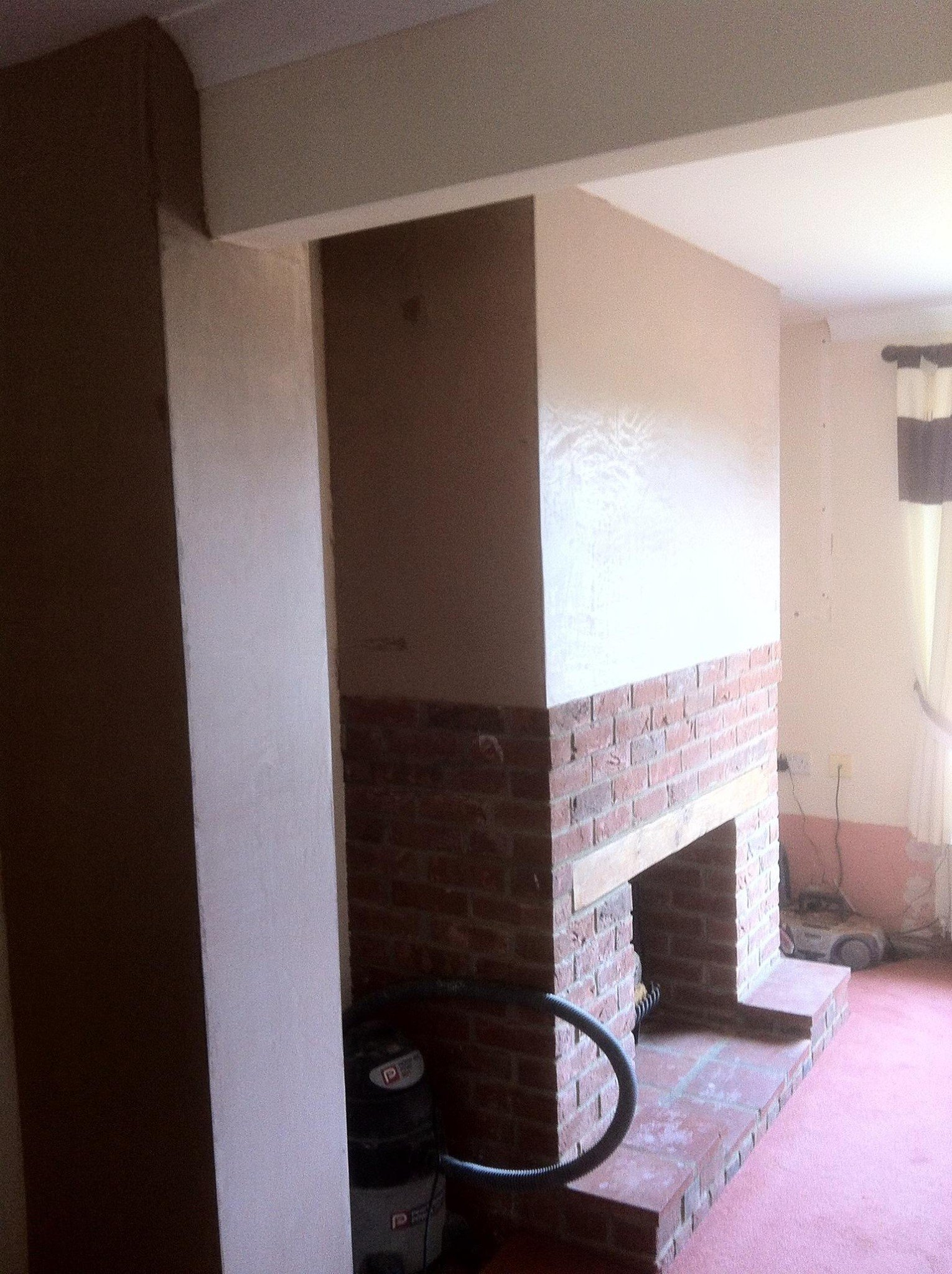 before wall plastering