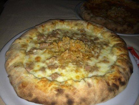 pizza bianca con zucca