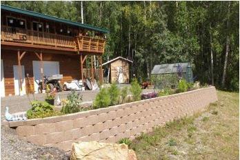 Professional landscaped garden in Fairbanks, Alaka