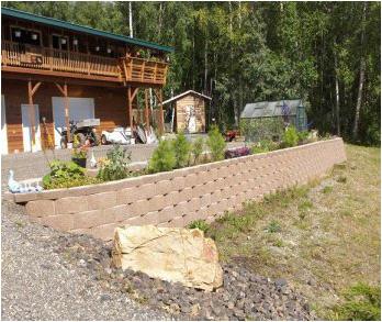 After picture of flower garden landscaping in Fairbanks, Alaska